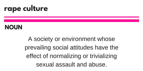 rape-culturenounmass-noun-A-society-or-environment-whose-prevailing-social-attitudes-have-the-effect-of-normalizing-or-trivializing-sexual-assault-and-abuse.